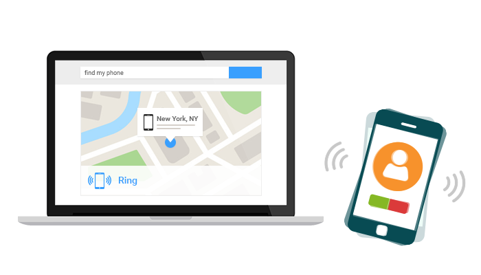 How to locate phone with Android device manager?